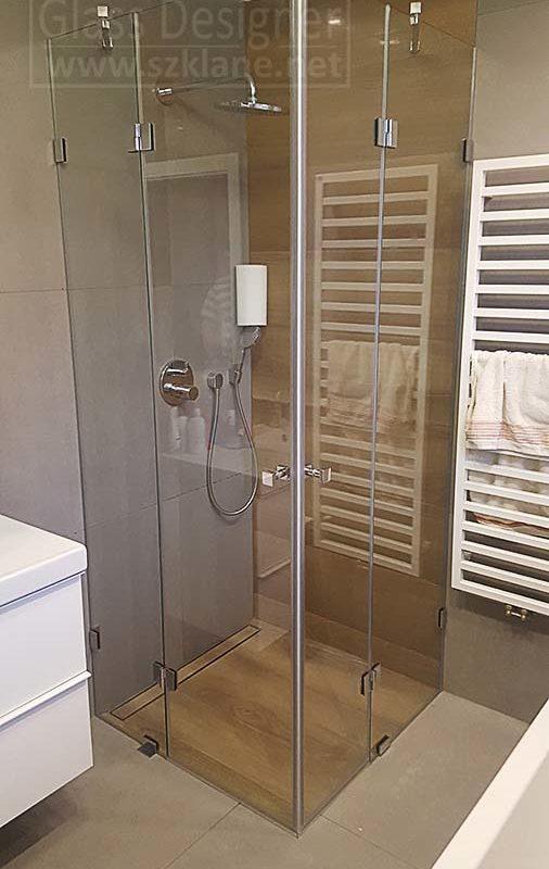 kabina prysznicowa 2 drzwi bez brodzika
