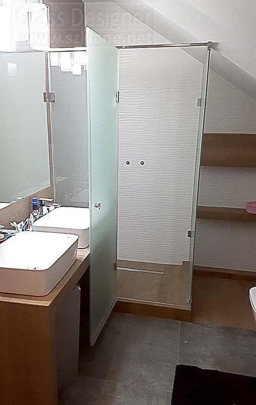 matowe drzwi w kabinie Wrocław