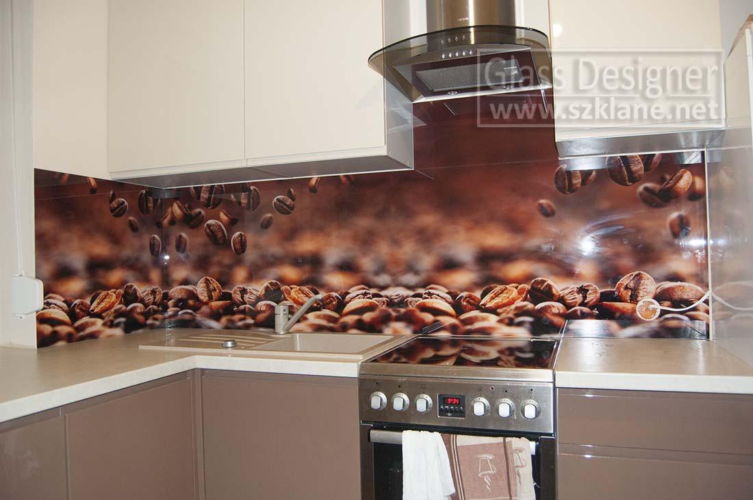 ziarka kawy motyw na szkle