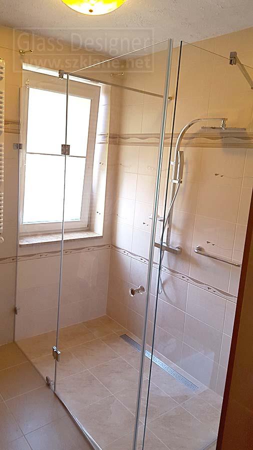 zabudowa szklana łazienki