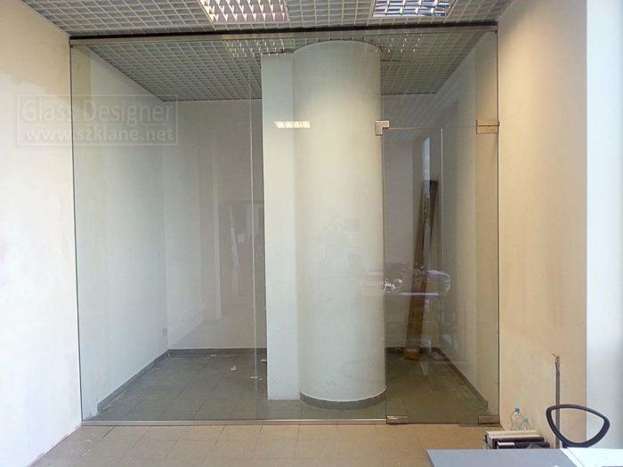 zabudowa szklana w listwie