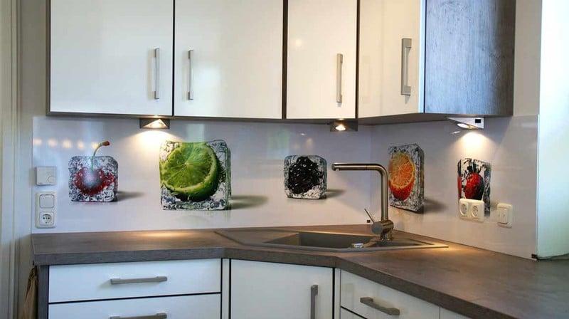 panel szklany kostki lodu