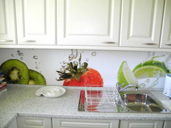 panel szklany owoce