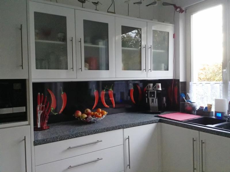 panel szklany papryczki chili