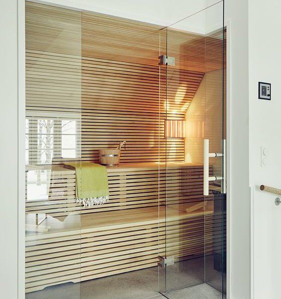 sauna drzwi szklane