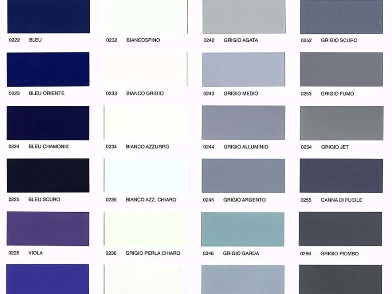 wzornik kolorów paleta RAL