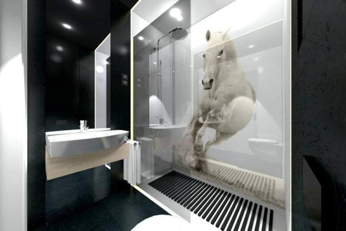 kon w lazience