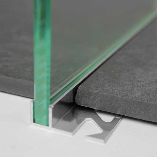 Szyba w kaflach w profilu aluminiowym