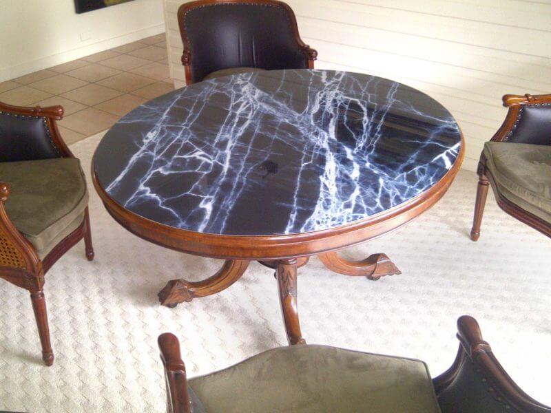 szyba na stolik marmur