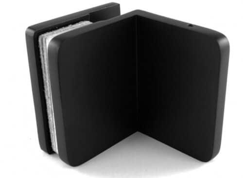 czarny łącznik szkło-ściana