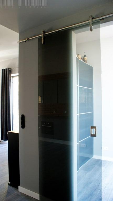 drzwi szklany system rurowy