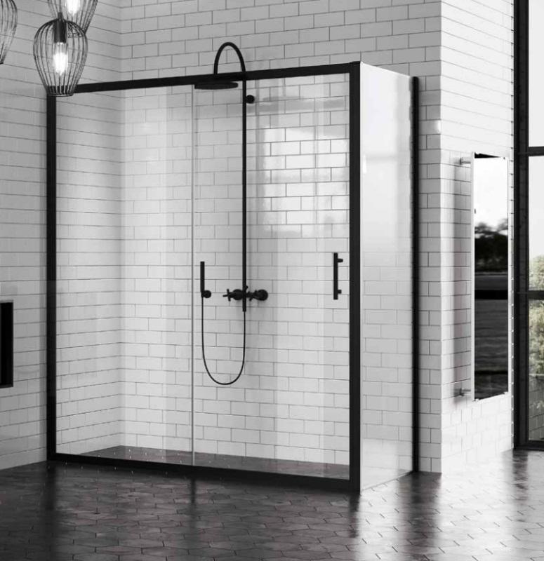 Czarne Industrialne Loftowe Drzwi Prysznicowe