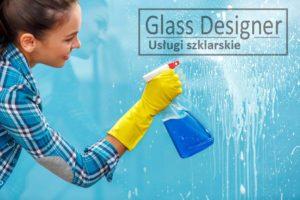 mycie panelu szklanego