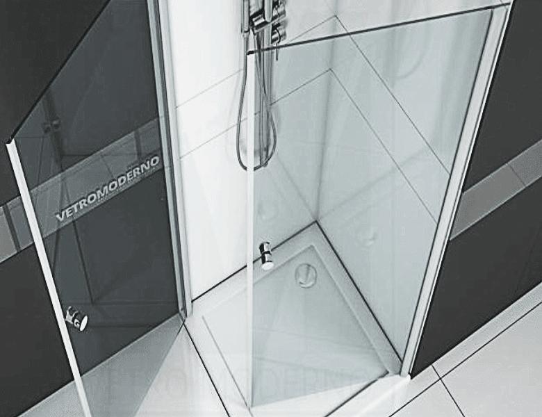 Kabina prysznicowa na zawiasach listwowych