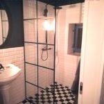 scianka loftowa lazienka loft glass