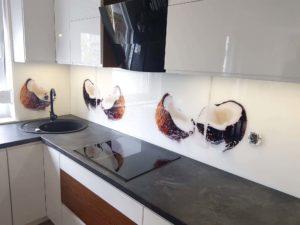 panel szklany kokos