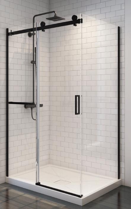 system przesuwny czarny łazienka