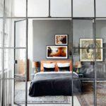 czarna scianka dzialowa loft glass