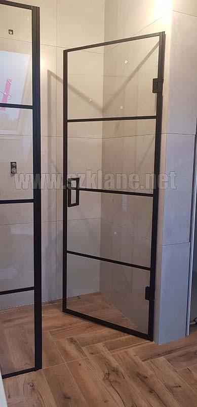 Drzwi prysznicowe czarny profil