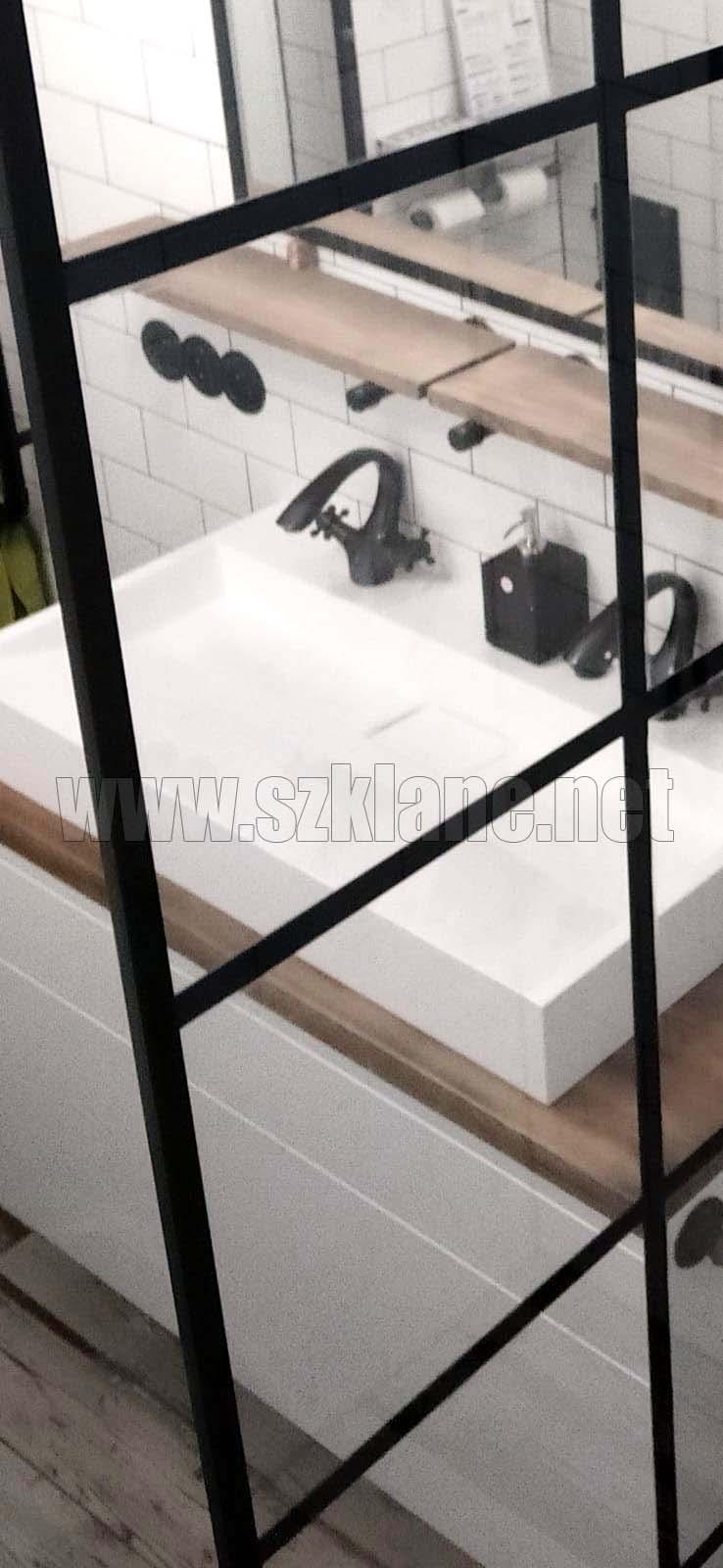 Ścianki działowe szklane czarne