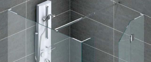 łącznik szkła w łazience