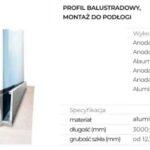 Profil balustradowy