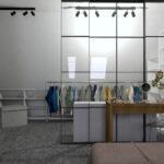 garderoba na poddaszu | przeszklenie loft